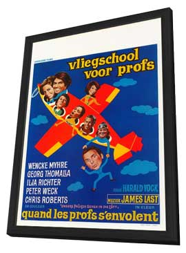 Unsere Pauker gehen in die Luft - 27 x 40 Movie Poster - Belgian Style A - in Deluxe Wood Frame