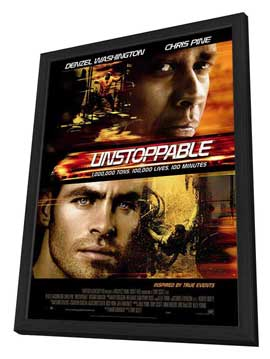 Unstoppable - 27 x 40 Movie Poster - Style C - in Deluxe Wood Frame
