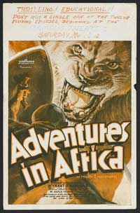 Untamed Africa - 14 x 22 Movie Poster - Window Card