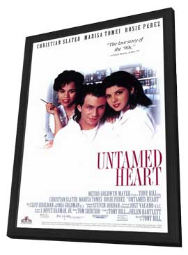 Untamed Heart - 11 x 17 Movie Poster - Style B - in Deluxe Wood Frame