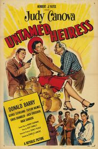 Untamed Heiress - 11 x 17 Movie Poster - Style A