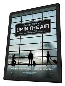 Up in the Air - 27 x 40 Movie Poster - Style A - in Deluxe Wood Frame