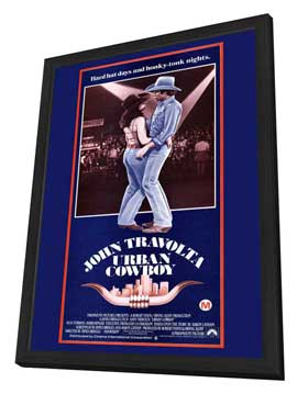 Urban Cowboy - 11 x 17 Movie Poster - Style B - in Deluxe Wood Frame