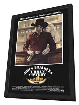 Urban Cowboy - 27 x 40 Movie Poster - Style A - in Deluxe Wood Frame