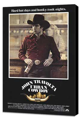 Urban Cowboy - 27 x 40 Movie Poster - Style A - Museum Wrapped Canvas