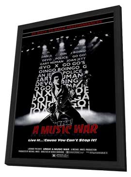 Urgh a Music War - 27 x 40 Movie Poster - Style A - in Deluxe Wood Frame