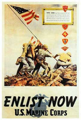 US Marine Corps - Enlist Now - 11 x 17 Movie Poster - Style A