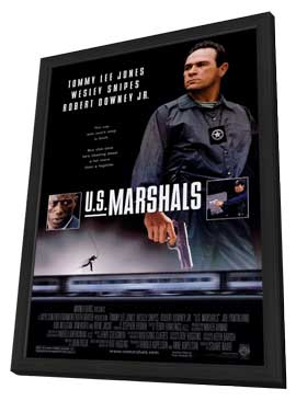U.S. Marshals - 27 x 40 Movie Poster - Style A - in Deluxe Wood Frame