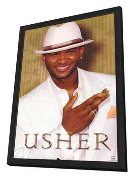 Usher - 11 x 17 Music Poster - Style B - in Deluxe Wood Frame