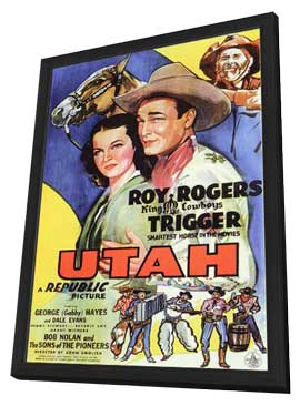 Utah - 11 x 17 Movie Poster - Style A - in Deluxe Wood Frame