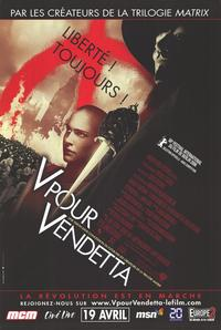 V for Vendetta - 47 x 62 Movie Poster - French Style A