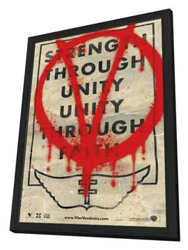 V for Vendetta - 27 x 40 Movie Poster - Style G - in Deluxe Wood Frame