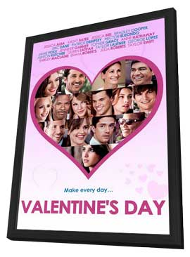 Valentine's Day - 27 x 40 Movie Poster - Style E - in Deluxe Wood Frame