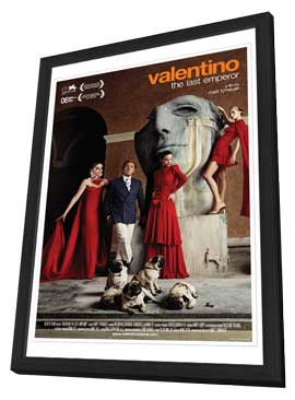 Valentino: The Last Emperor - 27 x 40 Movie Poster - Style A - in Deluxe Wood Frame