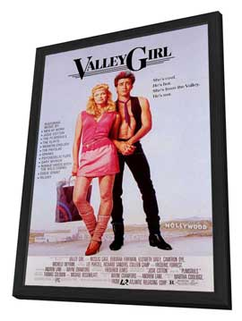 Valley Girl - 11 x 17 Movie Poster - Style B - in Deluxe Wood Frame