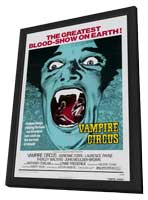 Vampire Circus - 27 x 40 Movie Poster - Style A - in Deluxe Wood Frame