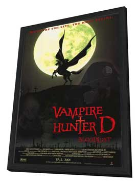 Vampire Hunter D: Bloodlust - 27 x 40 Movie Poster - Style A - in Deluxe Wood Frame