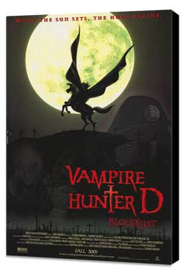 Vampire Hunter D: Bloodlust - 27 x 40 Movie Poster - Style A - Museum Wrapped Canvas