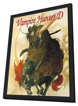 Vampire Hunter D - 11 x 17 Movie Poster - Style A - in Deluxe Wood Frame