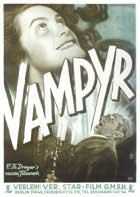 Vampyr - 27 x 40 Movie Poster - German Style A