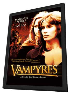 Vampyres - 27 x 40 Movie Poster - Style B - in Deluxe Wood Frame