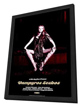 Vampyros Lesbos - 27 x 40 Movie Poster - Style A - in Deluxe Wood Frame