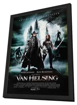 Van Helsing - 27 x 40 Movie Poster - Style C - in Deluxe Wood Frame