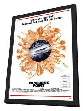 Vanishing Point - 27 x 40 Movie Poster - Style A - in Deluxe Wood Frame