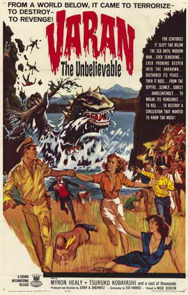 Varan the Unbelievable - 11 x 17 Movie Poster - Style A