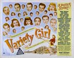 Variety Girl - 22 x 28 Movie Poster - Half Sheet Style A