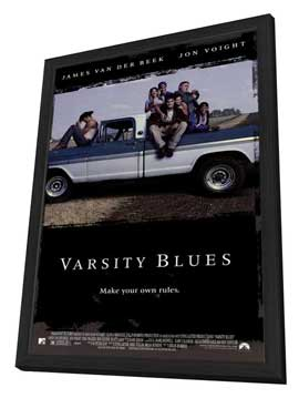 Varsity Blues - 27 x 40 Movie Poster - Style A - in Deluxe Wood Frame