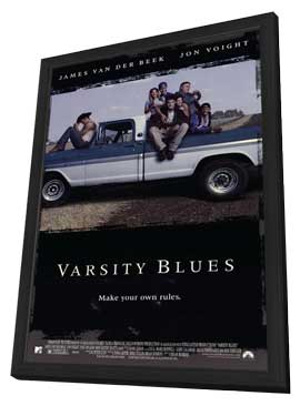 Varsity Blues - 11 x 17 Movie Poster - Style A - in Deluxe Wood Frame