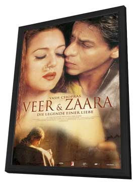 Veer-Zaara - 27 x 40 Movie Poster - German Style A - in Deluxe Wood Frame