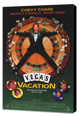 Vegas Vacation - 27 x 40 Movie Poster - Style A - Museum Wrapped Canvas
