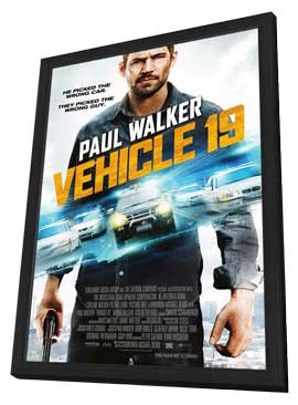 Vehicle 19 - 11 x 17 Movie Poster - Style B - in Deluxe Wood Frame