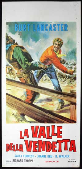 Vengeance Valley - 13 x 28 Movie Poster - Italian Style A