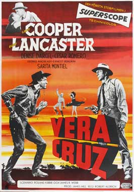 Vera Cruz - 11 x 17 Movie Poster - Swedish Style A