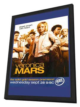 Veronica Mars - 11 x 17 TV Poster - Style B - in Deluxe Wood Frame