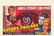 Vertigo - 27 x 40 Movie Poster - Belgian Style A