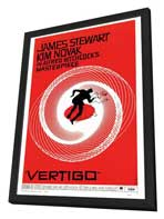 Vertigo - 27 x 40 Movie Poster - Style A - in Deluxe Wood Frame