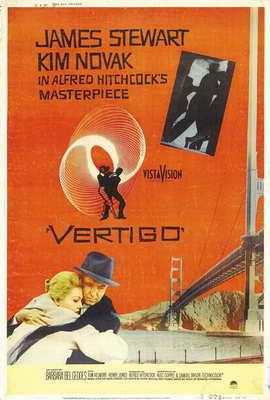 Vertigo - 27 x 40 Movie Poster - Style F