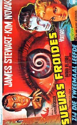Vertigo - 43 x 62 Movie Poster - Belgian Style A