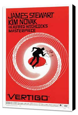 Vertigo - 27 x 40 Movie Poster - Style A - Museum Wrapped Canvas