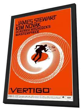 Vertigo - 11 x 17 Movie Poster - Style A - in Deluxe Wood Frame