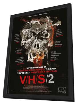 V/H/S 2 - 11 x 17 Movie Poster - Style A - in Deluxe Wood Frame