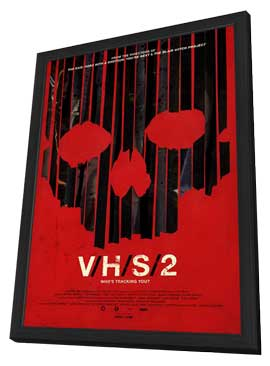 V/H/S 2 - 11 x 17 Movie Poster - Style B - in Deluxe Wood Frame
