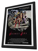 Vicious Lips - 11 x 17 Movie Poster - Style A - in Deluxe Wood Frame