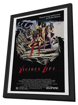 Vicious Lips - 27 x 40 Movie Poster - Style A - in Deluxe Wood Frame