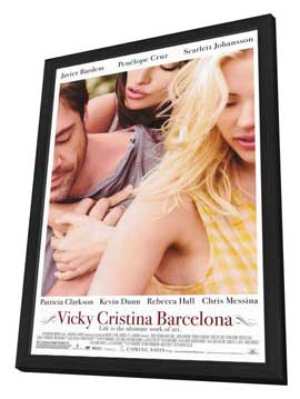 Vicky Cristina Barcelona - 11 x 17 Movie Poster - Style A - in Deluxe Wood Frame