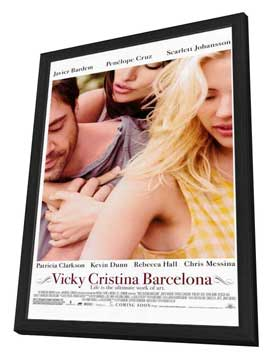 Vicky Cristina Barcelona - 27 x 40 Movie Poster - Style A - in Deluxe Wood Frame